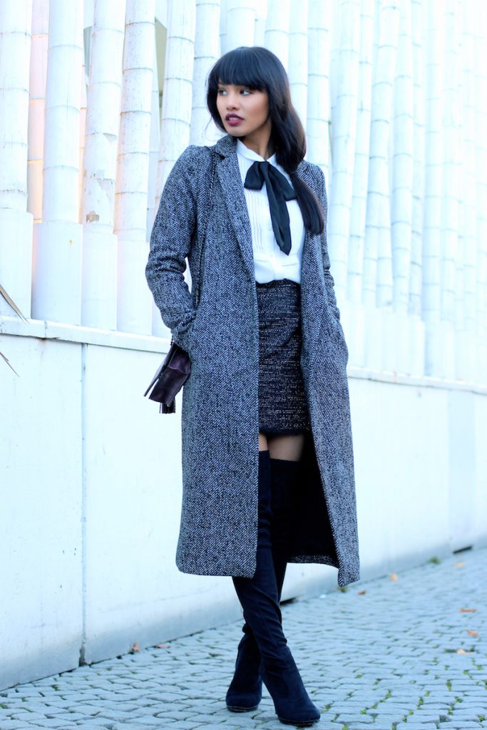 OUTFITPOST-STYLE-WOOL-OVERSIZECOAT-ZARA-OVERKNEES-MUENCHEN-MUNICH-BLOGGER-FASHIONBLOG-MODEBLOG-FASHIONBLOGGER-BOW-BUSINESS-LOOK-CLASSY-KLASSISCH-SKIRT-1
