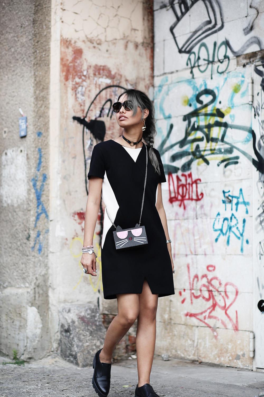 thefashionanarchy_fashionblog_modeblog_styleblog_outfit_look_inspiration_andotherstories_karllagerfeld_tasche_schwarz_kleid_grauehaare_munich_muenchen_fashionweeK_mbfw_berlin_streetstyle_2