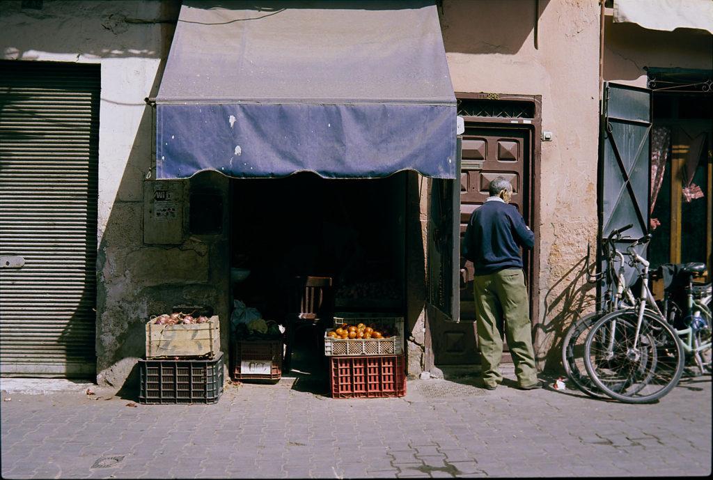 Obstladen in Marrakech Marokko