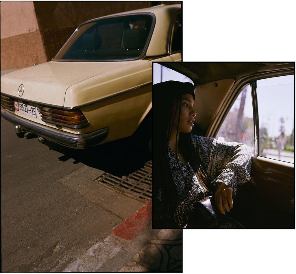 Taxi Marrakech Marokko Collage