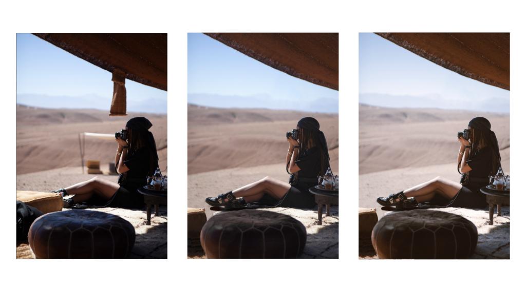 Bildbearbeitung - Vorher/Nachher Wüste